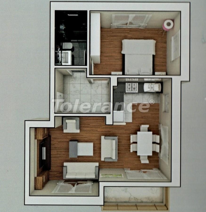 Апартаменты в Ларе, Анталия  в комплексе с бассейном - 8157 | Tolerance Homes