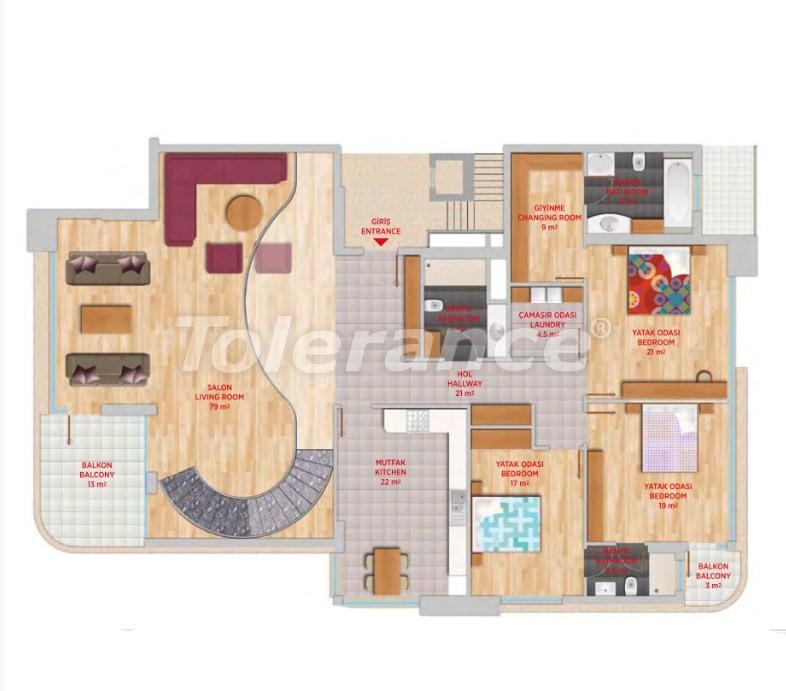Роскошный пентхаус в Гюрсу, Коньяалты в элитном комплексе - 24554 | Tolerance Homes