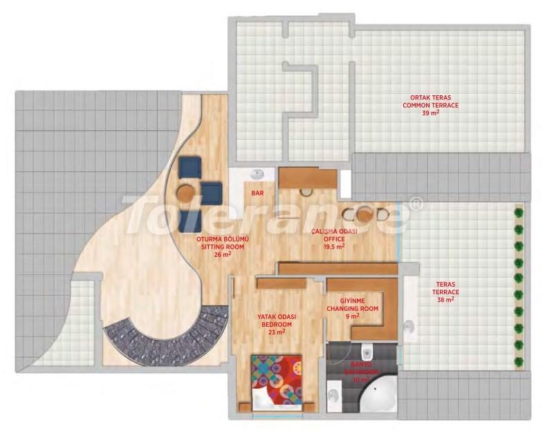 Роскошный пентхаус в Гюрсу, Коньяалты в элитном комплексе - 24553 | Tolerance Homes