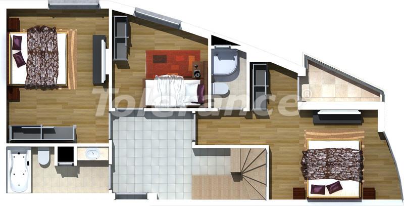 Трехкомнатные апартаменты люкс класса в Лимане, Коньяалты в 500 метрах от моря - 471   Tolerance Homes