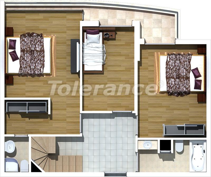 Трехкомнатные апартаменты люкс класса в Лимане, Коньяалты в 500 метрах от моря - 469   Tolerance Homes