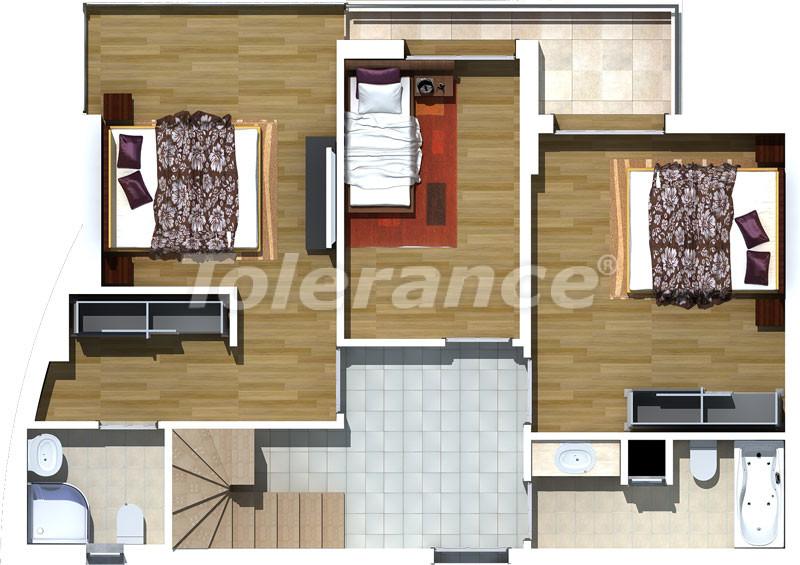 Трехкомнатные апартаменты люкс класса в Лимане, Коньяалты в 500 метрах от моря - 467   Tolerance Homes