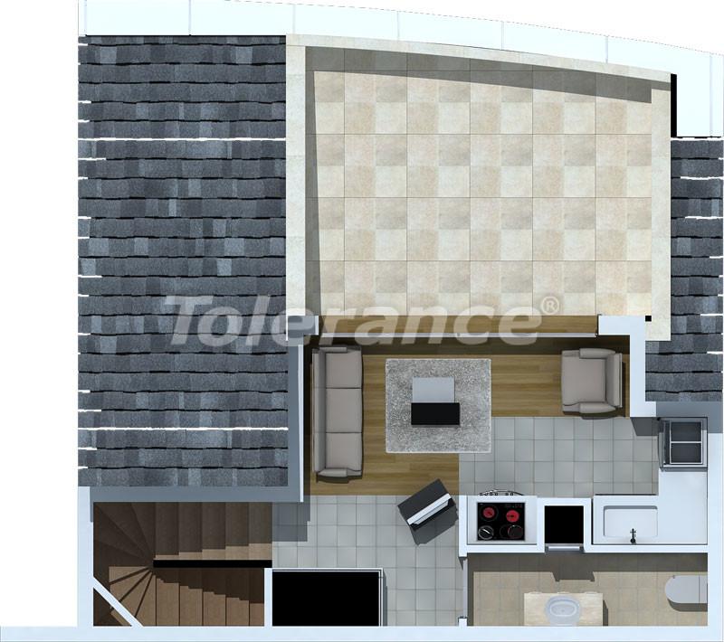 Трехкомнатные апартаменты люкс класса в Лимане, Коньяалты в 500 метрах от моря - 470   Tolerance Homes