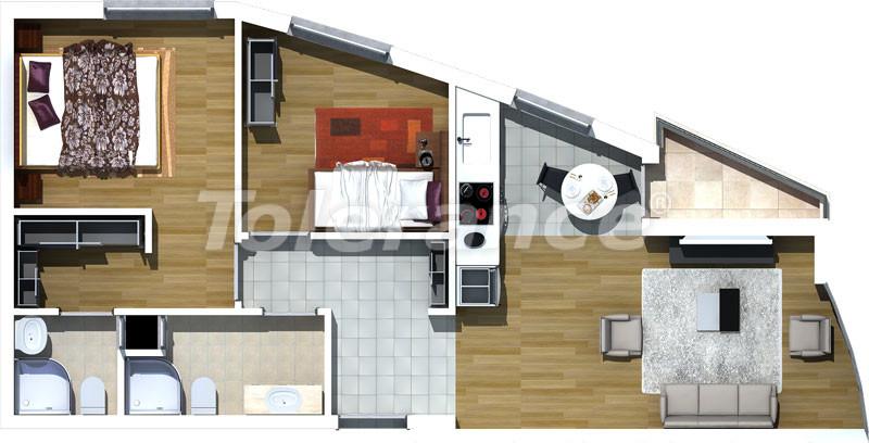 Трехкомнатные апартаменты люкс класса в Лимане, Коньяалты в 500 метрах от моря - 466   Tolerance Homes