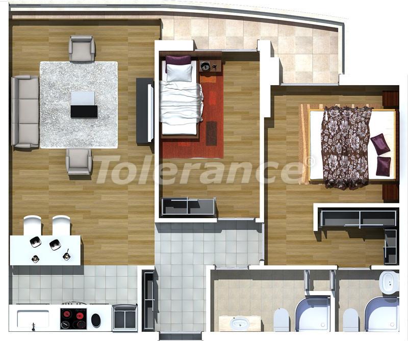 Трехкомнатные апартаменты люкс класса в Лимане, Коньяалты в 500 метрах от моря - 465   Tolerance Homes