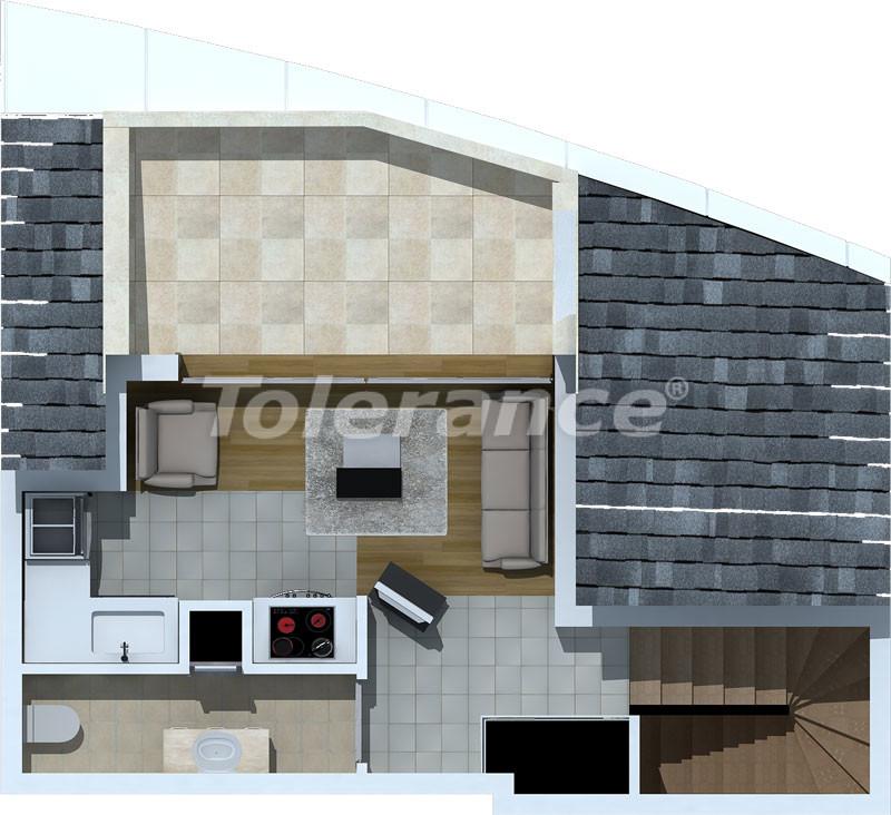 Трехкомнатные апартаменты люкс класса в Лимане, Коньяалты в 500 метрах от моря - 472   Tolerance Homes