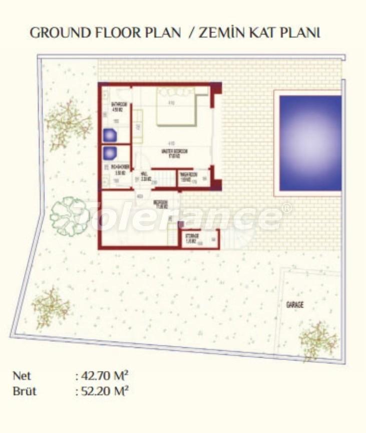 Роскошные виллы в Каргыджак, Алания с частным бассейном - 8922 | Tolerance Homes