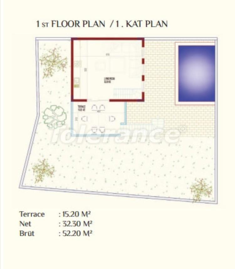 Роскошные виллы в Каргыджак, Алания с частным бассейном - 8923 | Tolerance Homes