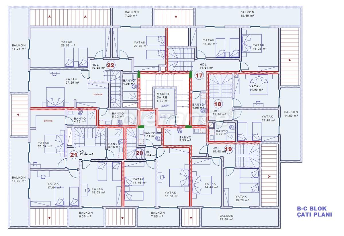 Апартаменты в Оба, Алания с закрытым бассейном - 9081   Tolerance Homes