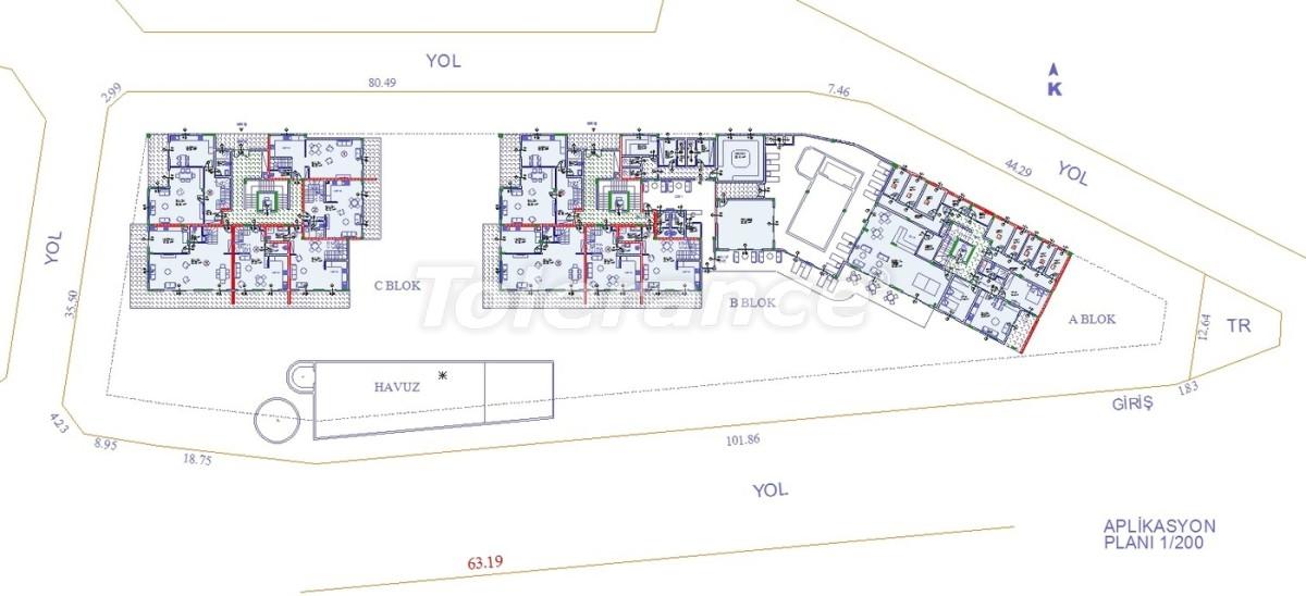 Апартаменты в Оба, Алания с закрытым бассейном - 9078   Tolerance Homes
