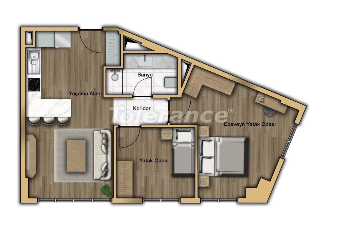 Квартиры в Кючукчекмедже, Стамбул в современном комплексе с рассрочкой до 2-х лет с гарантией аренды - 20359 | Tolerance Homes