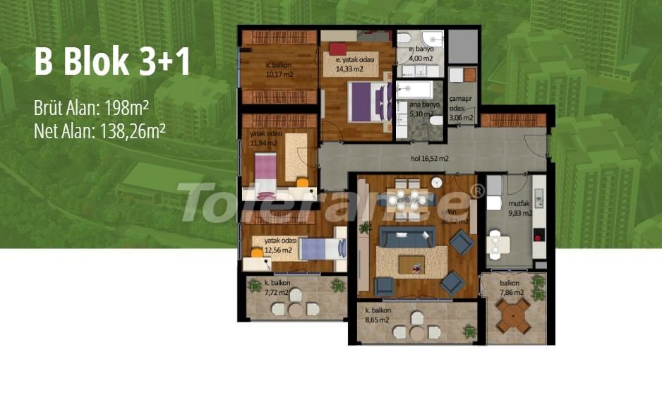Квартиры в Стамбуле с рассрочкой в престижном районе на побережье Мраморного моря - 17004   Tolerance Homes