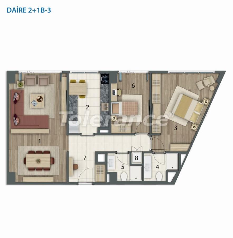 Просторные квартиры в Башакшехир, Стамбул в современном комплексе с рассрочкой до 1 года - 20563   Tolerance Homes