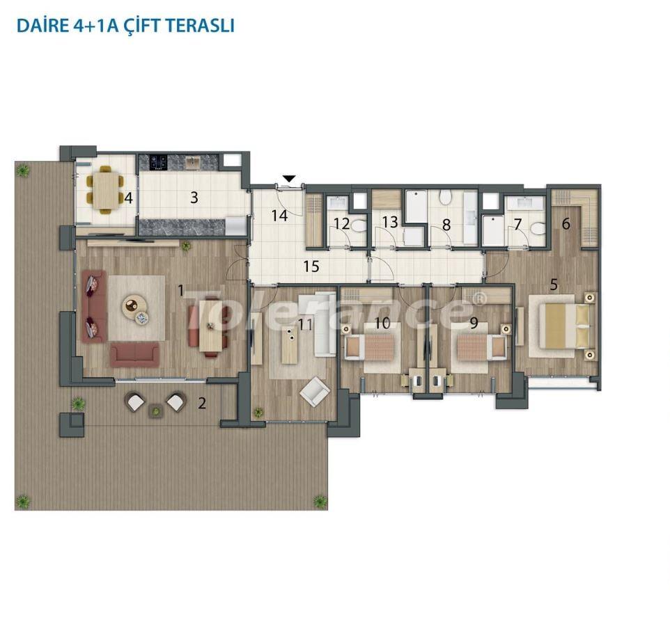 Просторные квартиры в Башакшехир, Стамбул в современном комплексе с рассрочкой до 1 года - 20562   Tolerance Homes