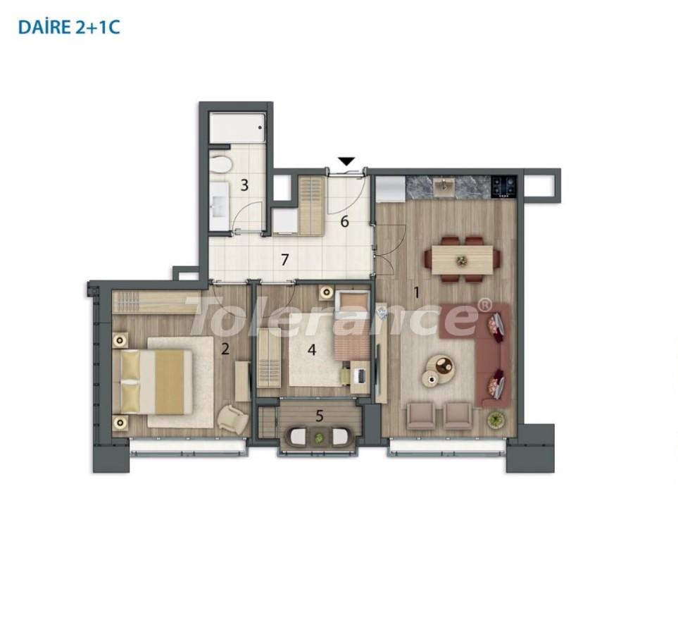 Просторные квартиры в Башакшехир, Стамбул в современном комплексе с рассрочкой до 1 года - 20557   Tolerance Homes