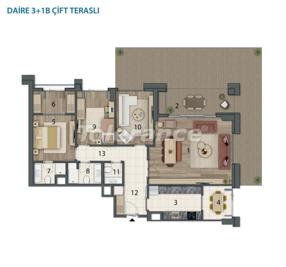 Просторные квартиры в Башакшехир, Стамбул в современном комплексе с рассрочкой до 1 года - 20560   Tolerance Homes