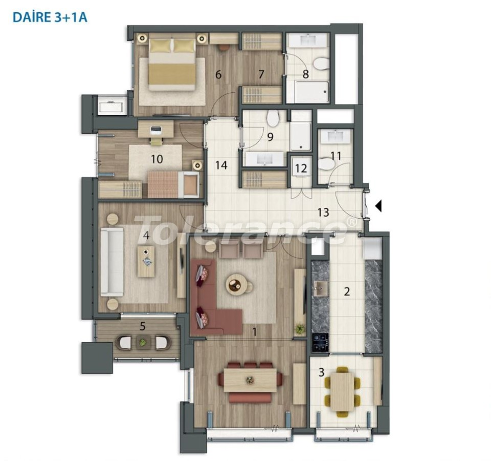 Просторные квартиры в Башакшехир, Стамбул в современном комплексе с рассрочкой до 1 года - 20559   Tolerance Homes