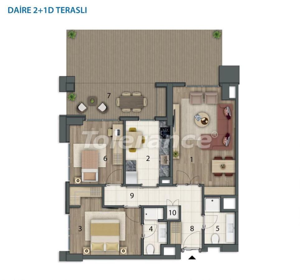 Просторные квартиры в Башакшехир, Стамбул в современном комплексе с рассрочкой до 1 года - 20558   Tolerance Homes