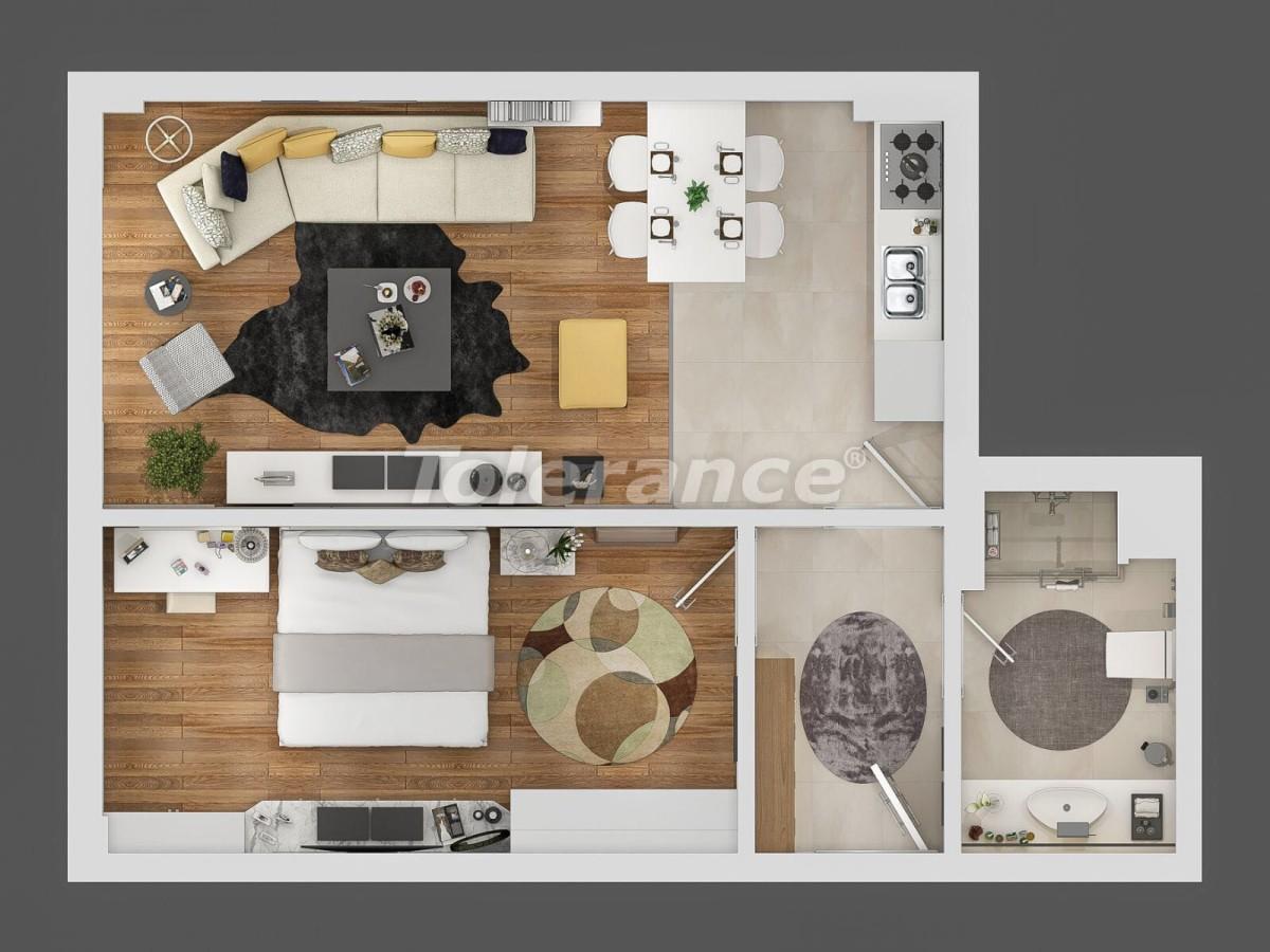Современный комплекс апартаментов в Сарысу, Коньяалты у подножия гор с возможностью рассрочки - 10659   Tolerance Homes