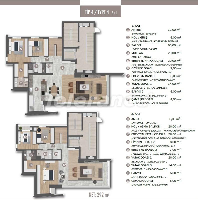 Эксклюзивные апартаменты в Лимане, Коньяалты с 3-мя и 4-мя спальнями с прямым видом на море - 17454 | Tolerance Homes