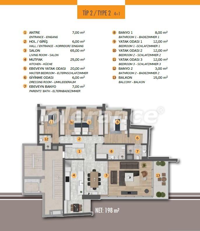 Эксклюзивные апартаменты в Лимане, Коньяалты с 3-мя и 4-мя спальнями с прямым видом на море - 17452 | Tolerance Homes