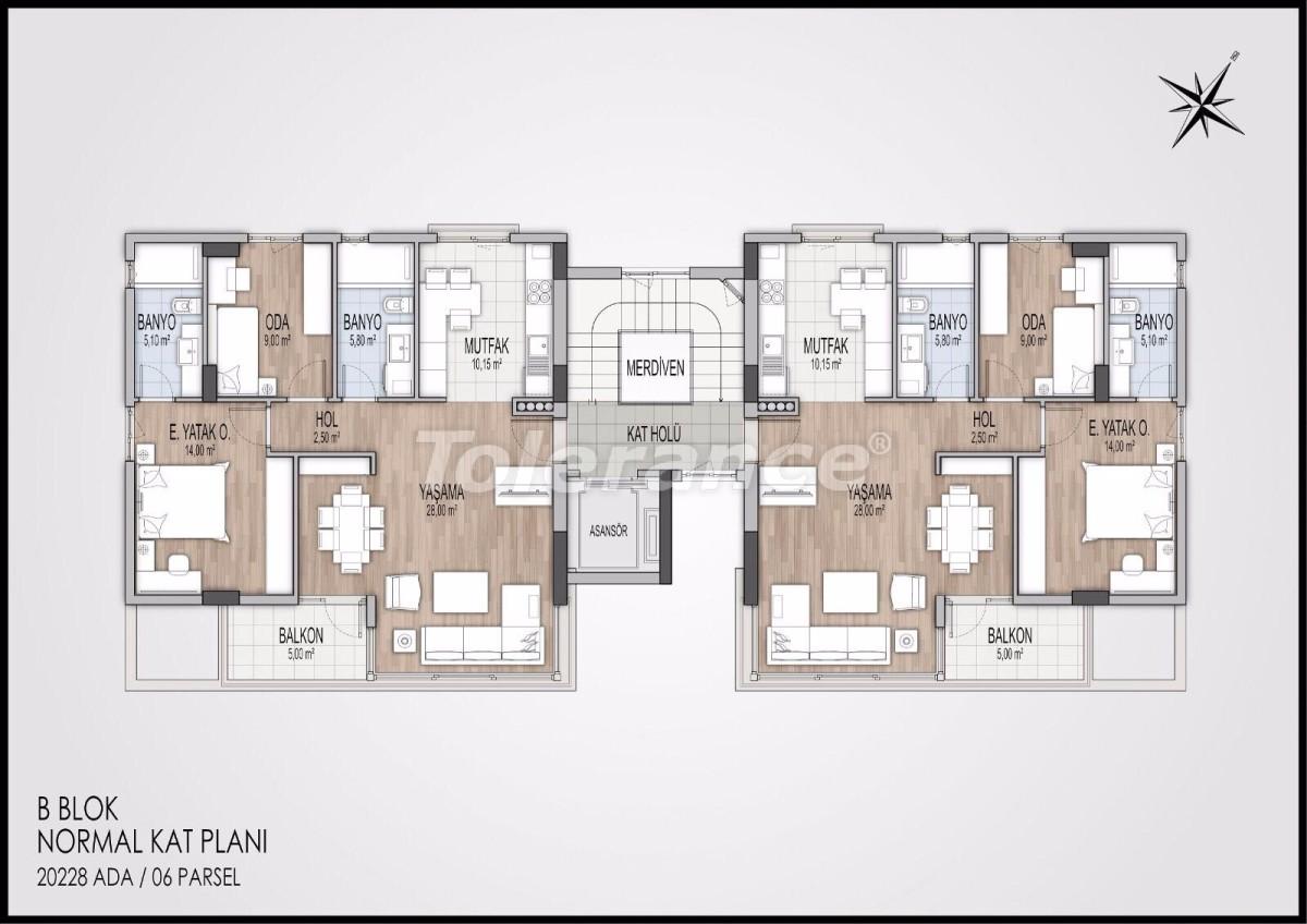 Современные апартаменты в Коньяалты, Анталия от  лучшего застройщика - 11597   Tolerance Homes