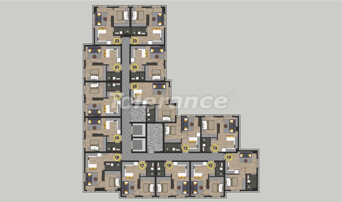 Недорогие квартиры в Кепезе, Анталия в комплексе с бассейном - 11649 | Tolerance Homes