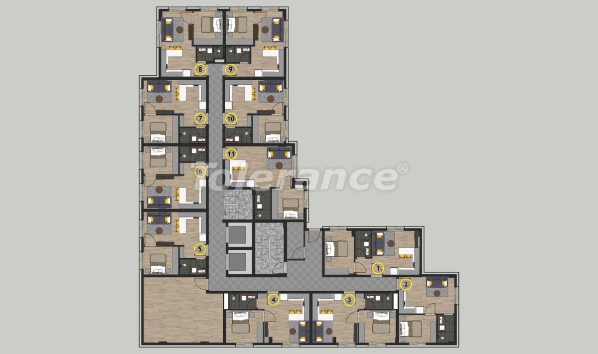 Недорогие квартиры в Кепезе, Анталия в комплексе с бассейном - 11648 | Tolerance Homes