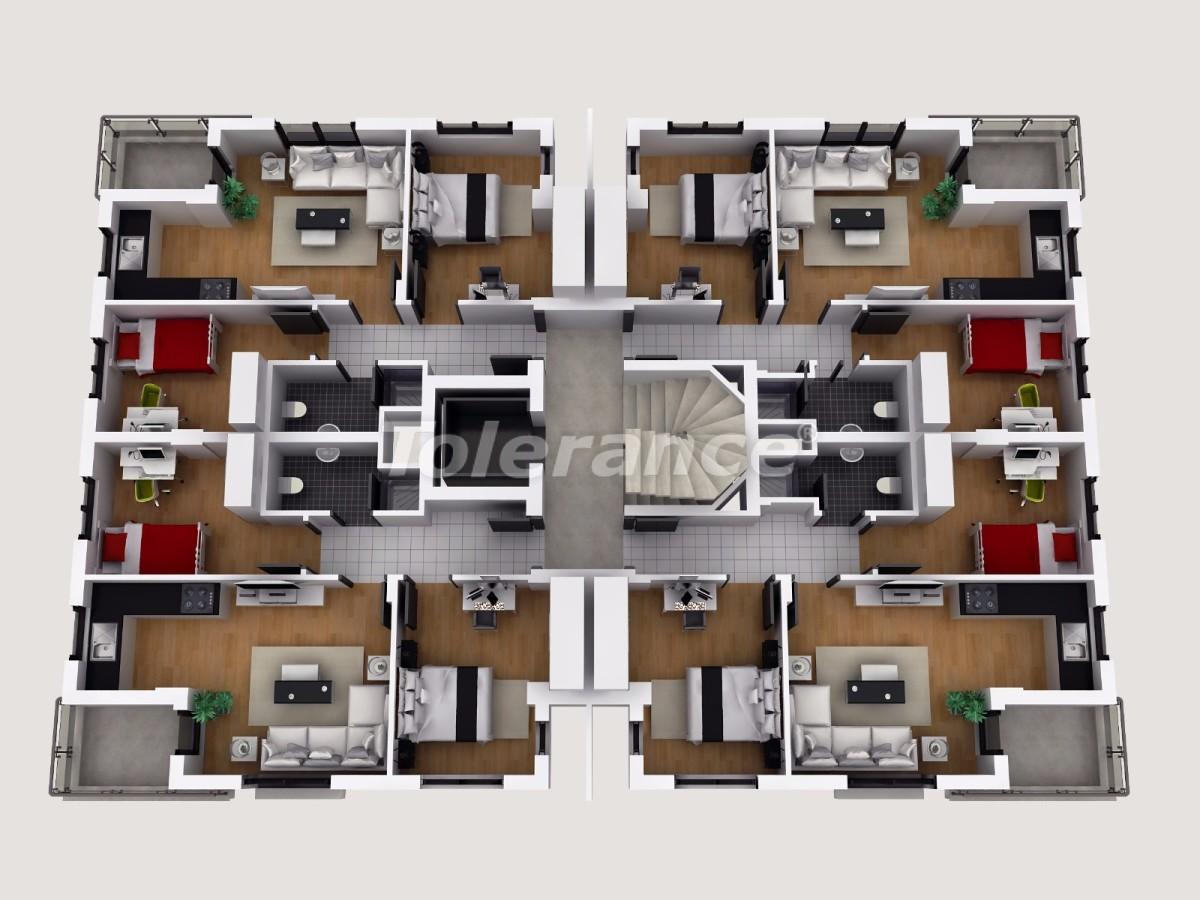 Апартаменты в Коньяалты, Анталия  в комплексе отельного типа с гарантией дохода - 11857 | Tolerance Homes