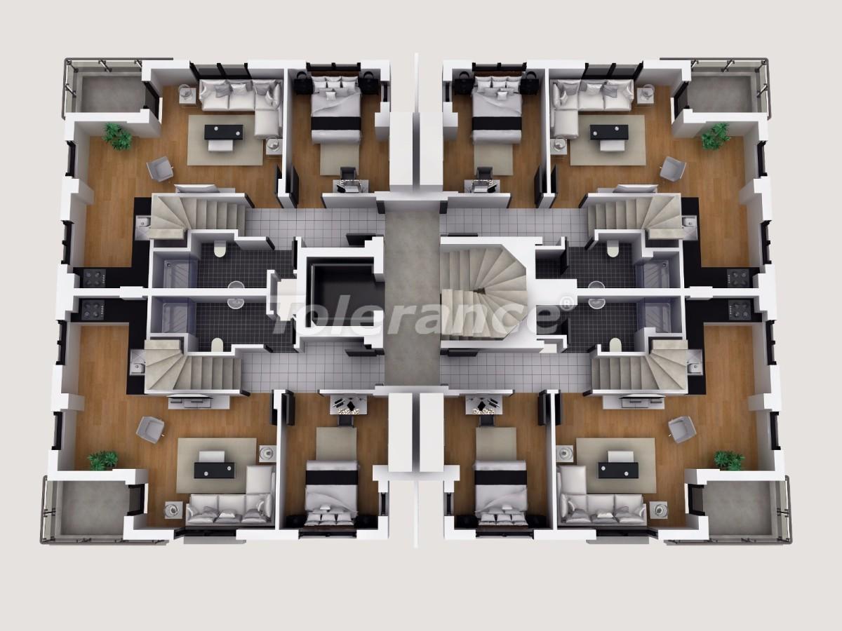 Апартаменты в Коньяалты, Анталия  в комплексе отельного типа с гарантией дохода - 11855 | Tolerance Homes