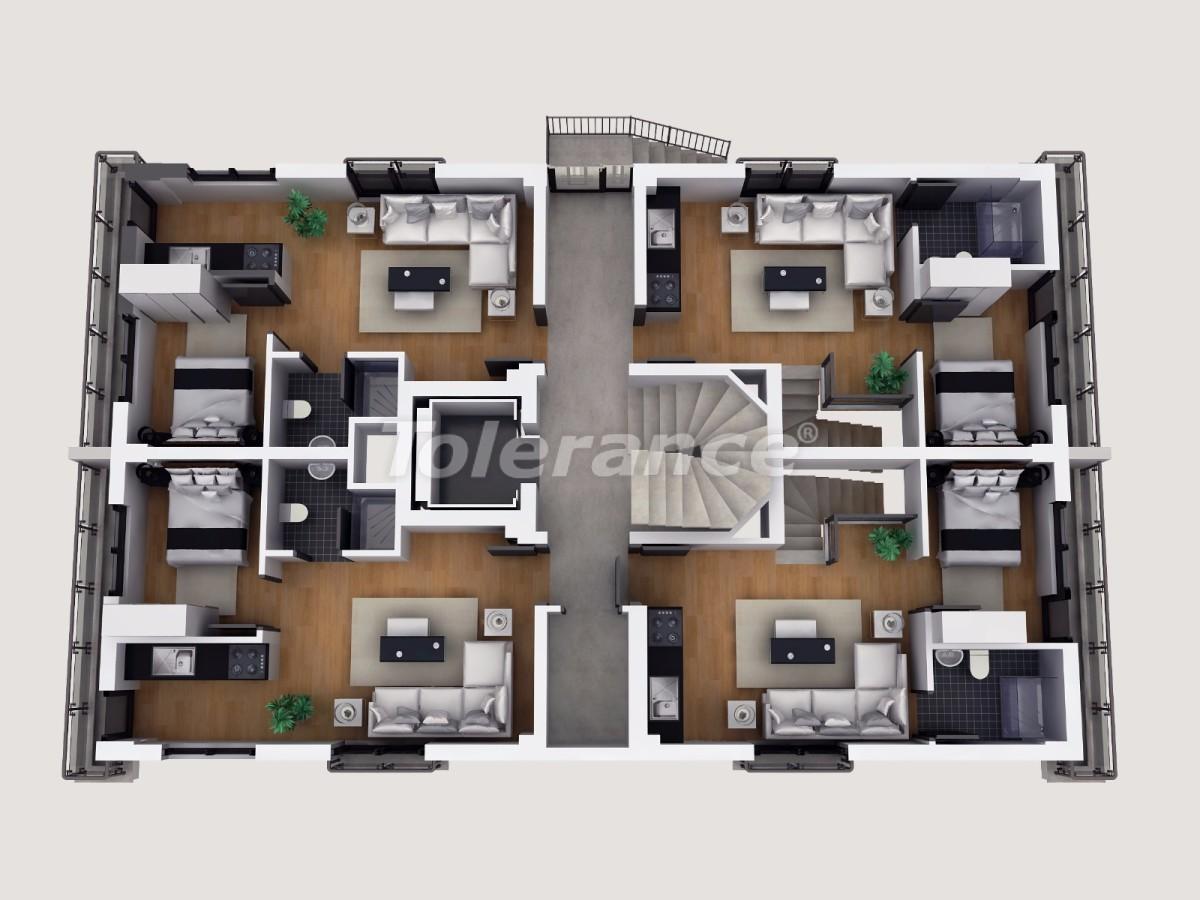 Апартаменты в Коньяалты, Анталия  в комплексе отельного типа с гарантией дохода - 11856 | Tolerance Homes