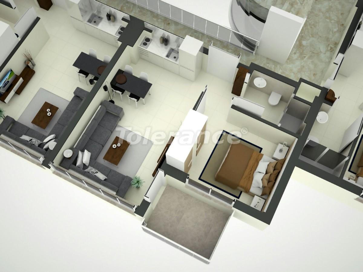 Апартаменты в Коньяалты, Анталия  в комплексе отельного типа с гарантией дохода - 11858 | Tolerance Homes