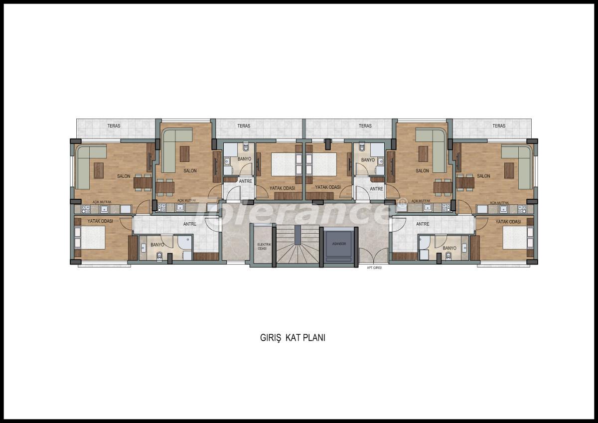 Апартаменты в Лимане, Коньяалты с фитнес центром и сауной от застройщика - 11867 | Tolerance Homes