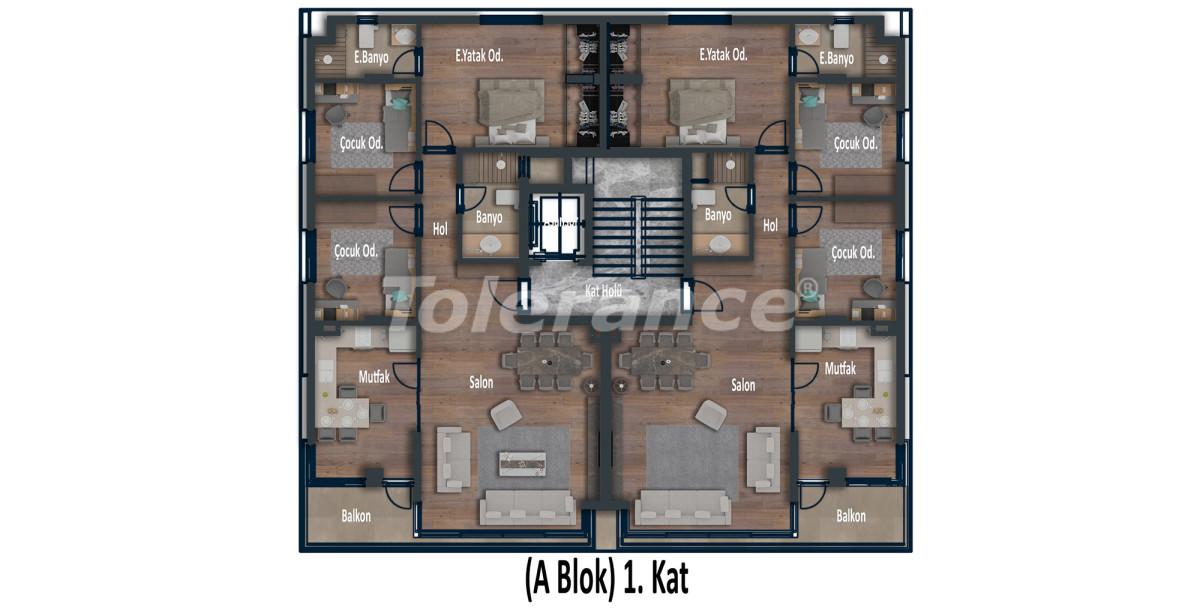 Эксклюзивные апартаменты в Коньяалты, Анталия  класса люкс в 100 метрах от моря и набережной - 12025 | Tolerance Homes