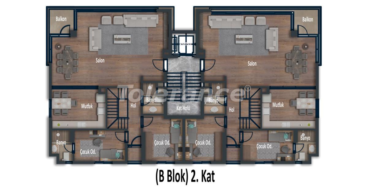 Эксклюзивные апартаменты в Коньяалты, Анталия  класса люкс в 100 метрах от моря и набережной - 12029 | Tolerance Homes