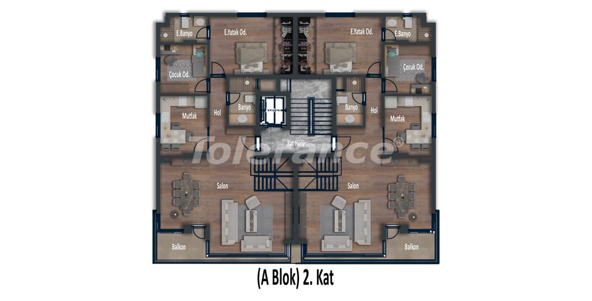 Эксклюзивные апартаменты в Коньяалты, Анталия  класса люкс в 100 метрах от моря и набережной - 12026 | Tolerance Homes