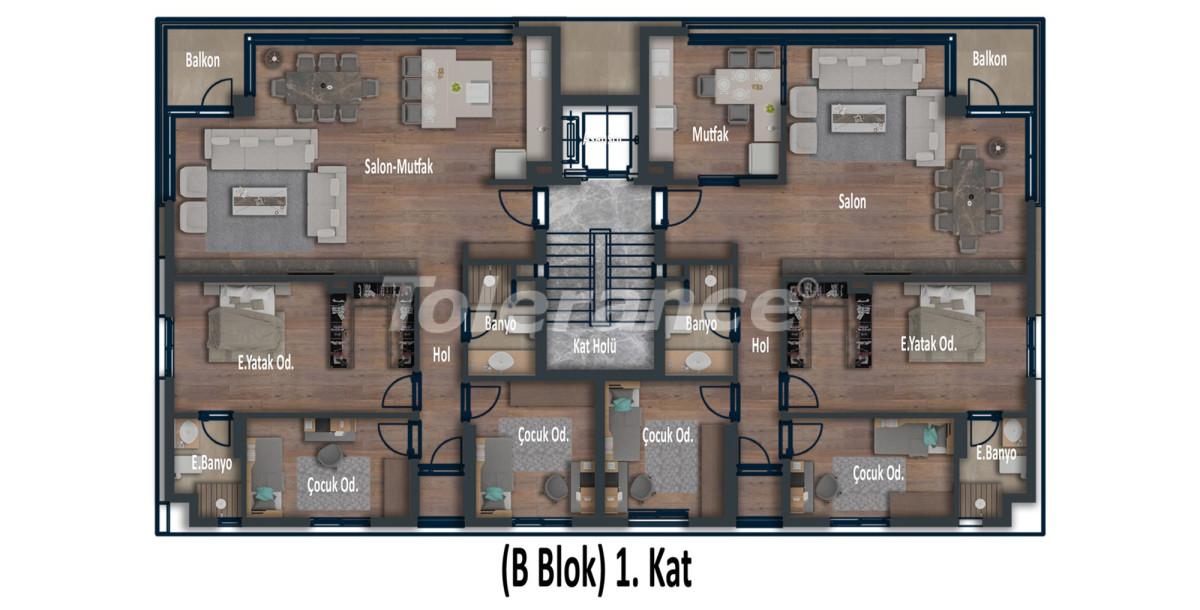 Эксклюзивные апартаменты в Коньяалты, Анталия  класса люкс в 100 метрах от моря и набережной - 12028 | Tolerance Homes