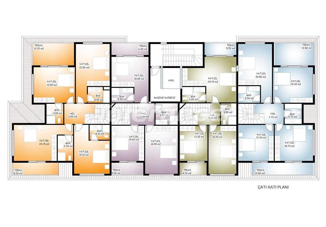 Просторные апартаменты  в центре Махмутлара, Алания - 13536 | Tolerance Homes