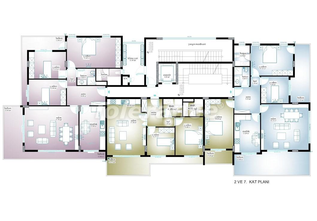 Просторные апартаменты  в центре Махмутлара, Алания - 13534 | Tolerance Homes