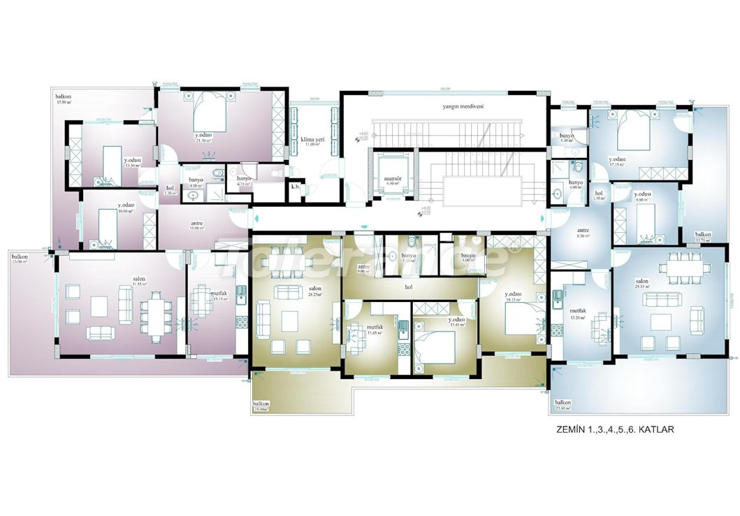 Просторные апартаменты  в центре Махмутлара, Алания - 13533 | Tolerance Homes