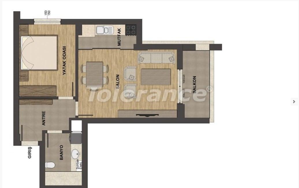 Роскошные апартаменты в Унджалы, Коньяалты с бассейном - 13658 | Tolerance Homes