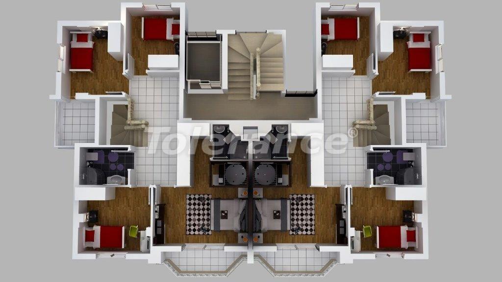 Роскошные виллы  в Дошемеалты, Анталия с джакузи - 13909   Tolerance Homes
