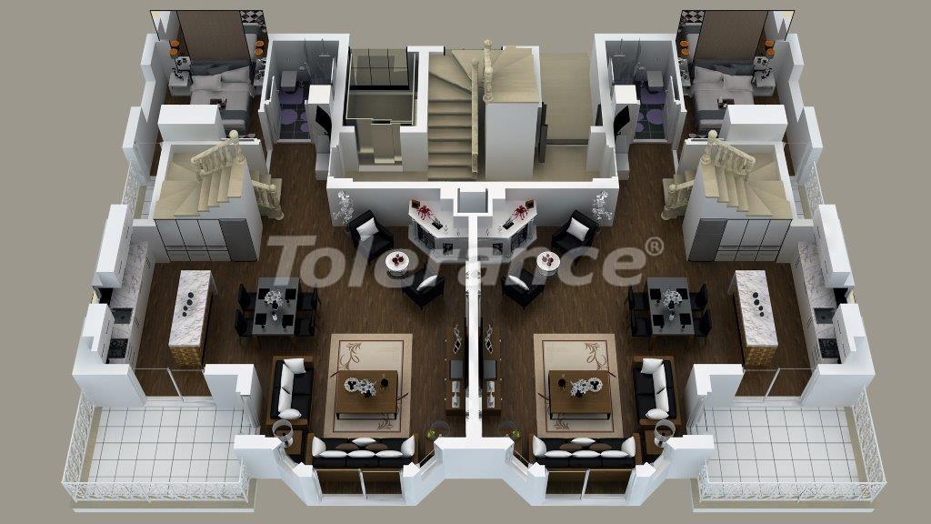 Роскошные виллы  в Дошемеалты, Анталия с джакузи - 13906   Tolerance Homes