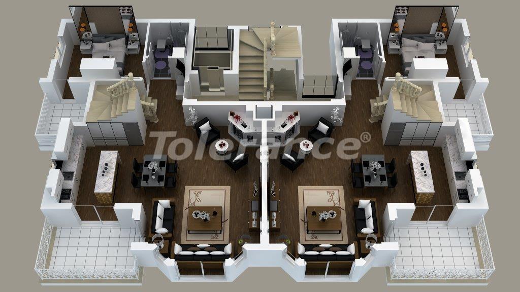 Роскошные виллы  в Дошемеалты, Анталия с джакузи - 13907   Tolerance Homes