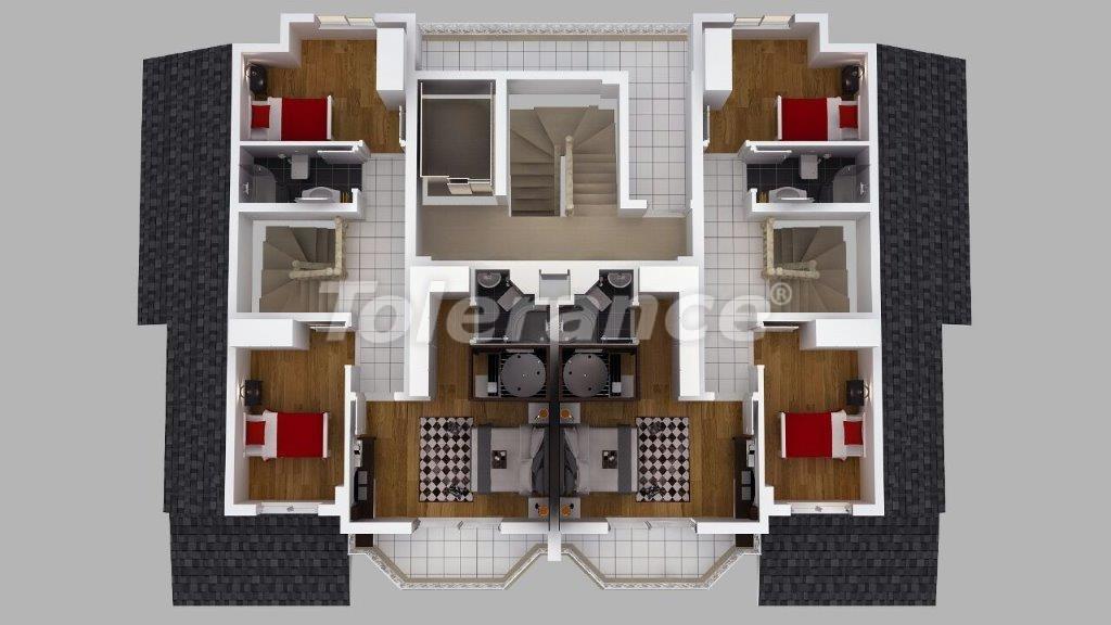 Роскошные виллы  в Дошемеалты, Анталия с джакузи - 13908   Tolerance Homes