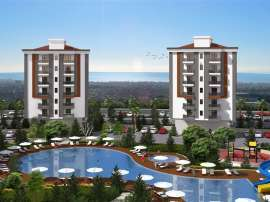 Просторные квартиры в Кепезе, Анталия в современном комплексе  с бассейном