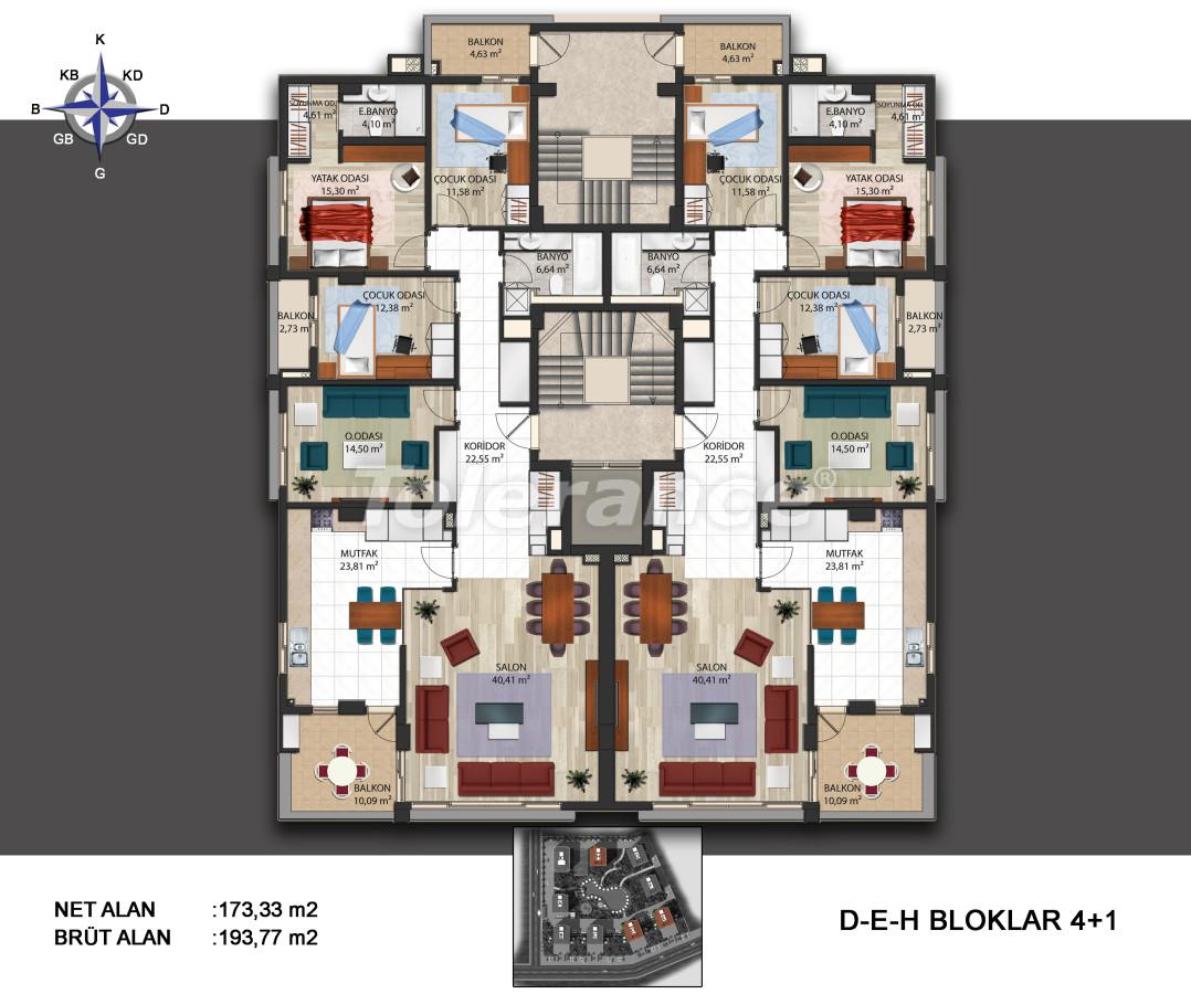 Просторные квартиры в Кепезе, Анталия в современном комплексе  с бассейном - 14011 | Tolerance Homes
