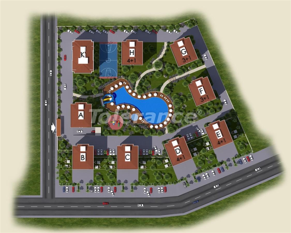 Просторные квартиры в Кепезе, Анталия в современном комплексе  с бассейном - 14012 | Tolerance Homes