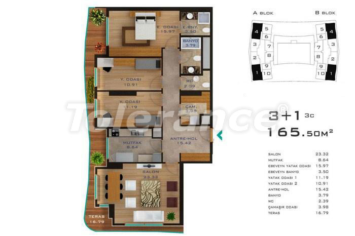 Просторные квартиры в Стамбуле в развитом районе с возможностью рассрочки до 2-х лет - 14184 | Tolerance Homes