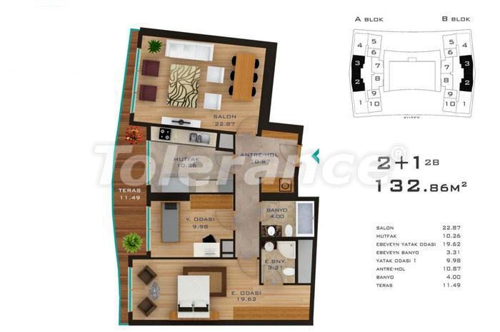 Просторные квартиры в Стамбуле в развитом районе с возможностью рассрочки до 2-х лет - 14183 | Tolerance Homes